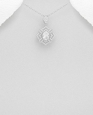 Pandantiv din argint cu pietricele - Evelyn 1P-91 0