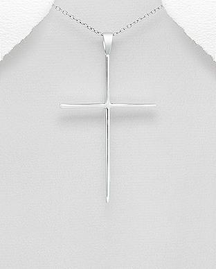 Pandantiv Cruce din Argint simplu 1P-147 [0]