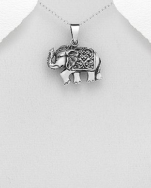 Pandantiv elefant din argint 1P-332 0