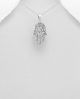 Pandantiv argint Hamsa Mana lui Fatima 1P-176 0