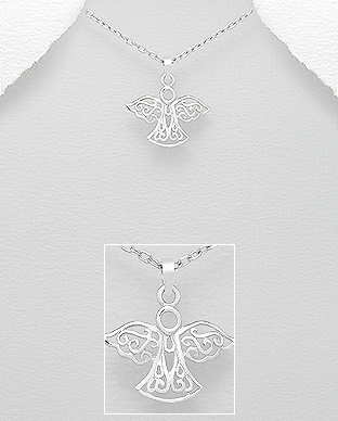 Pandantiv inger din argint model filigran 1P-297 - Elmio.ro 0