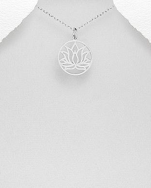 Pandantiv Lotus din Argint | Floare de Lotus 1P-162 0