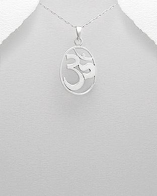 Pandantiv simbol OM din argint 1P-175 - simbol sacru 0