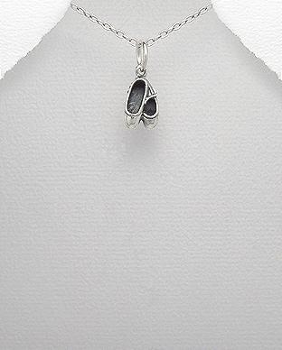 Pandantiv pantofi poante balet din argint 1P-349 0
