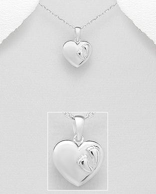 Pandantiv picioruse bebe si inima din argint 1P-292 0