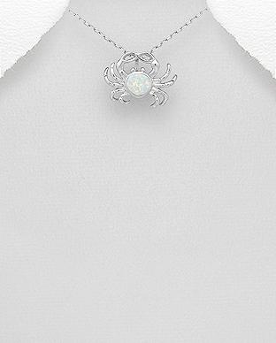 Pandantiv Rac din argint cu opal 1P-388 0