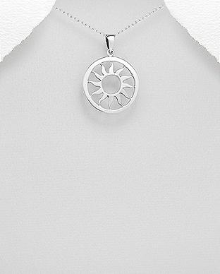 Pandantiv cerc si soare simbol sacru din argint 1P-182 0