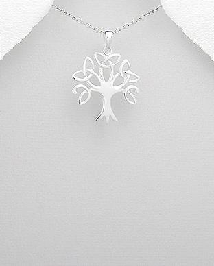 Pandantiv copacul vietii si triquetra din argint 1P-221 0