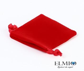 Saculet rosu mic din catifea pentru bijuterii 3707 0