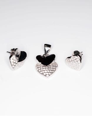 Set din argint inimioare 1S-112 - Elmio.ro 0