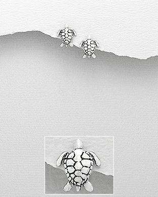Cercei brosca testoasa din argint 1C-352