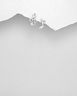 Cercei cheia sol si nota muzicala din argint 1C-138
