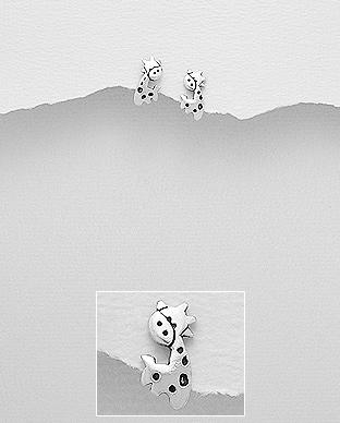 Cercei girafa din argint 1C-355