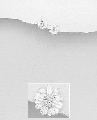 Cercei margareta din argint 925 1C-344 [0]