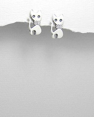 Cercei pisica din argint 1C-346