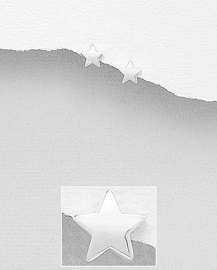 Cercei din argint steluta 1C-354 [0]