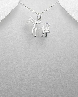 Pandantiv cal din argint 1P-318