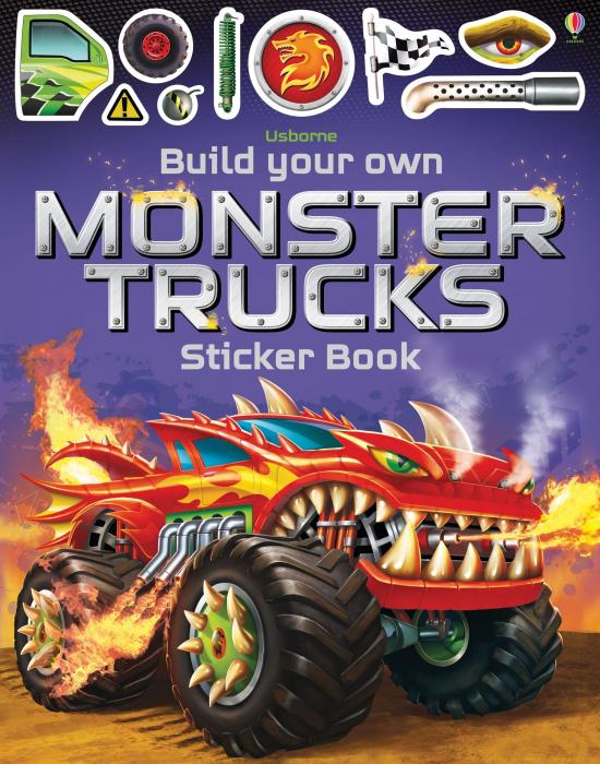 Build Your Own Monster Trucks Sticker Book [0]