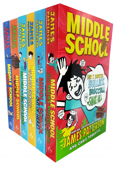 James Patterson Middle School 6 Books Collection Pack Set [0]
