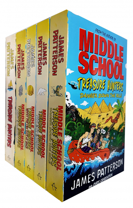 James Patterson Middle School Treasure Hunters 5 Books Collection Set [0]