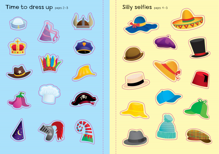 Little First Stickers Funny Hats [3]