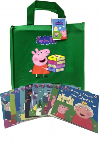 Peppa Pig Collection 10 Books Set In a Bag (Green Bag) [0]