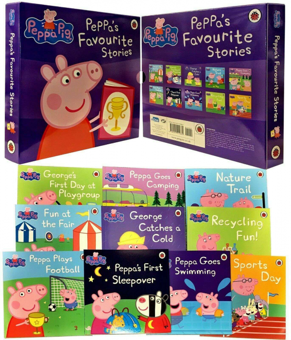 Peppa Pig Favourite Stories 10 Books Collection Set [0]