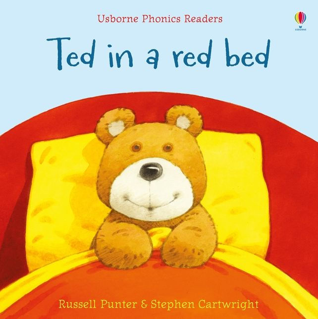 Ted in a red bed [0]