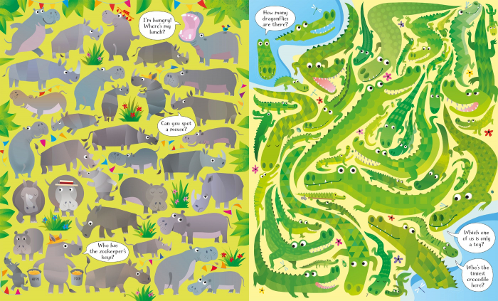 Usborne Book and Jigsaw At the Zoo [2]