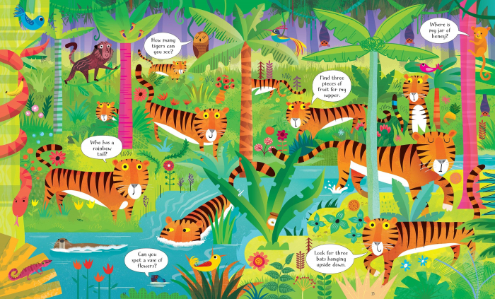 Usborne Book and Jigsaw In the Jungle [3]