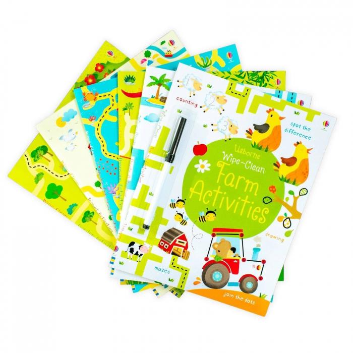 Usborne Wipe-Clean 6 Book Collection [3]