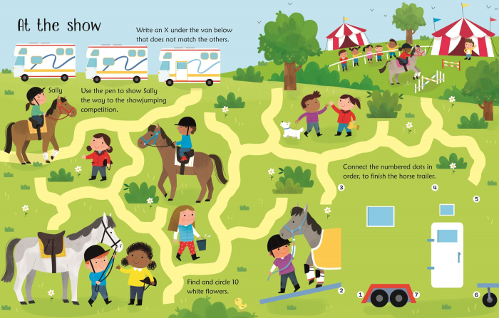 Wipe-Clean Horse and Pony Activities [2]