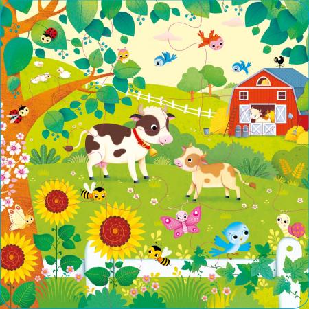 Book and 3 Jigsaws: On the Farm [3]