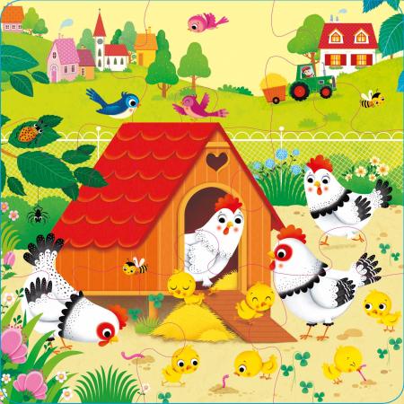 Book and 3 Jigsaws: On the Farm [4]