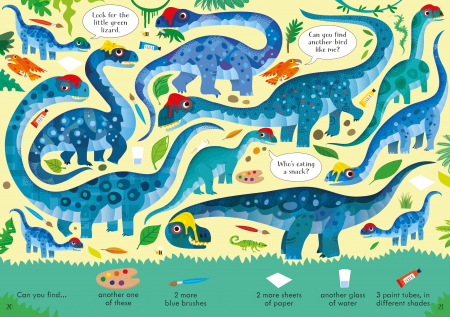 Look and Find Puzzles Dinosaurs [1]