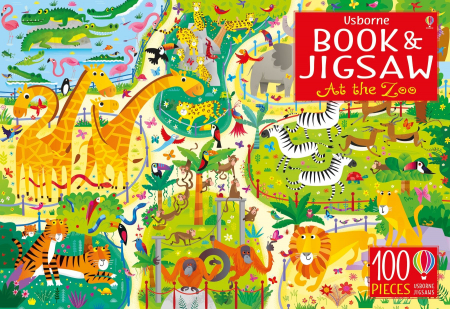 Usborne Book and Jigsaw At the Zoo [0]