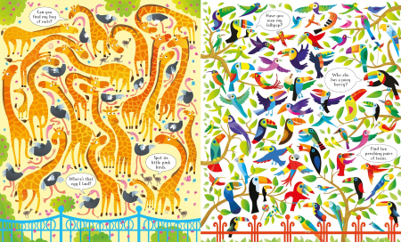 Usborne Book and Jigsaw At the Zoo [3]