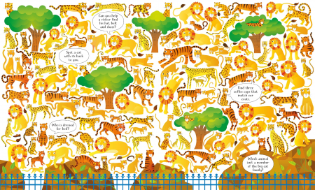 Usborne Book and Jigsaw At the Zoo [1]