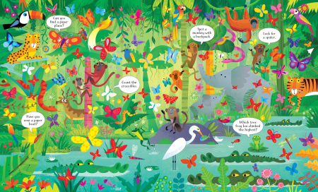 Usborne Book and Jigsaw In the Jungle [1]