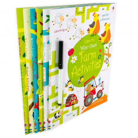Usborne Wipe-Clean 6 Book Collection [2]