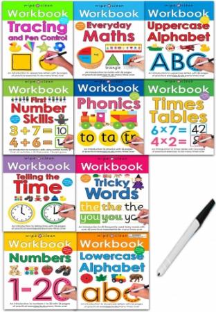 Wipe-Clean Workbook Collection 10 Books Set [0]