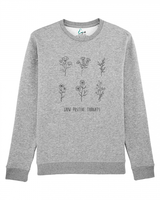 Bluza unisex Grow positive thoughts 1
