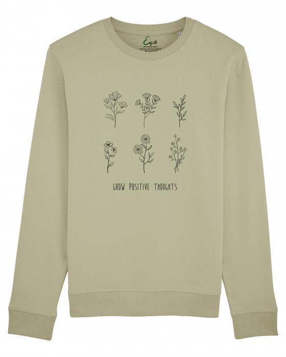 Bluza unisex Grow positive thoughts 2