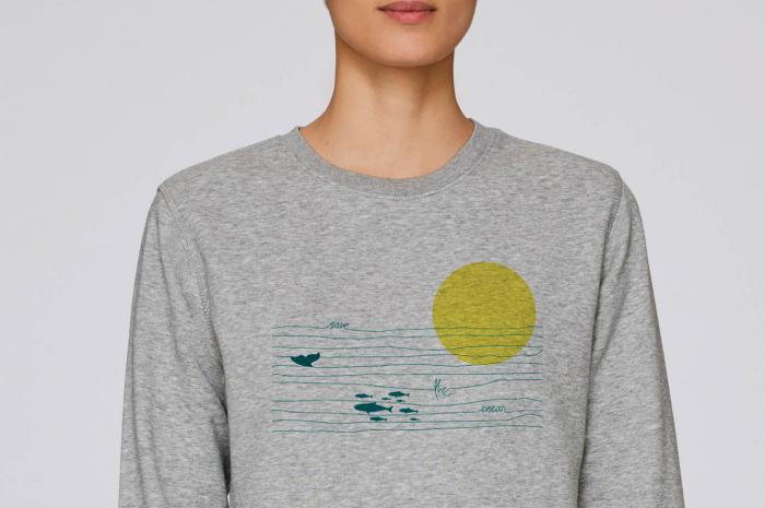 Bluza unisex Save the ocean 1