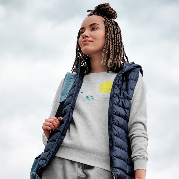Bluza unisex Save the ocean [0]