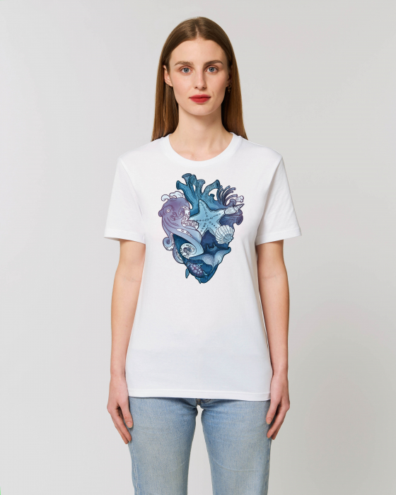 Tricou Unisex - Love purple oceans 1
