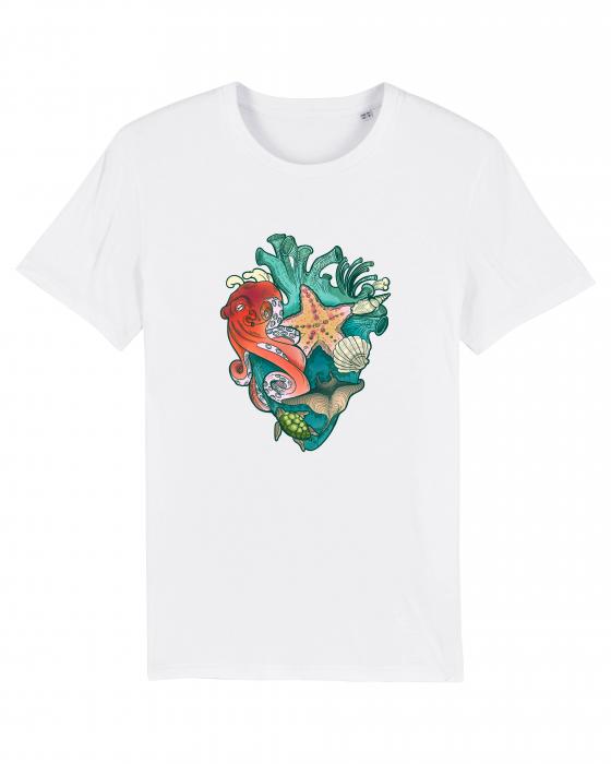 Tricou Unisex - Love multicolor oceans 0