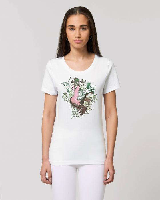 Tricou dama- Love nature pink heart 0