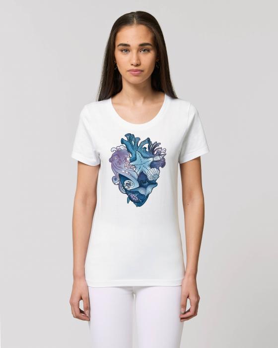 Tricou dama - Love purple oceans 0