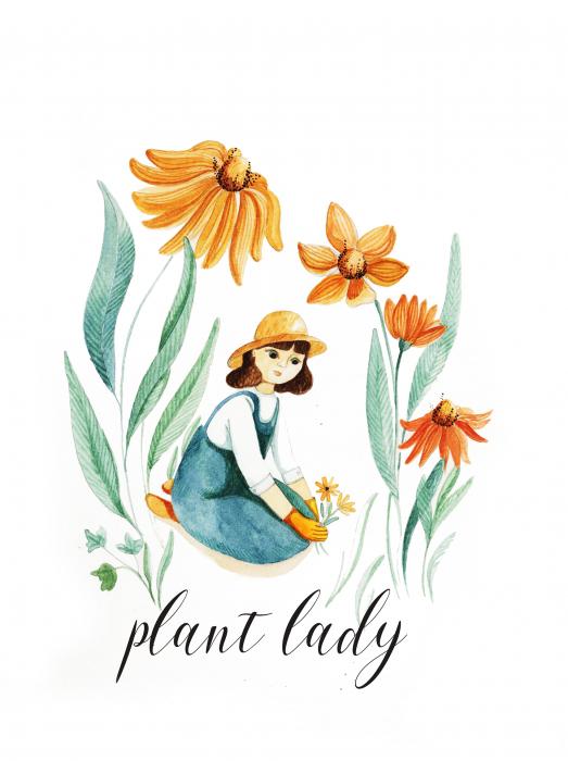 Tablou Plant Lady [2]